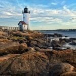 Annisquam lighthouse located near Gloucester, Massachusetts