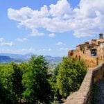 View of Orvieto, overlooking the Umbrian countryside, Italy