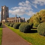 Lavenham parish church in Suffolk was built in the 15th century and is dedicated to St Peter and St Paul