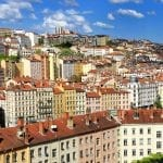 View of the city of Lyon, France