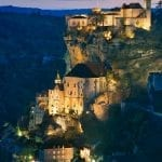 Getting dark in the mountainside village of Rocamadour