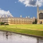 Punting with King's College Cambridge in the background