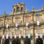 View of the town hall building in the Plaza Mayor, Salamanca