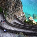 Krup Street in the isle of Capri, Campania, Italy