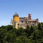 winding your way up the mountain to tour Sintra's remarkable Pena Palace – Portugal