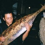 Instrument of the Orang Ulu People, called a sape