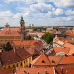 View over the city of Eger, Hungary