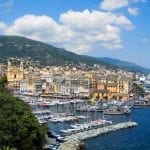 A view of the Bay of Bastia, Corsica