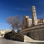 Beautiful Fenestrelle Tower, Saint-Theodorit Cathedral in Uzes in Southern France
