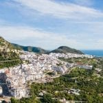 Frigiliana is perched in the hills on the Costa del Sol, Spain
