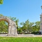 Mausoleum of Julii and Triumphal Arch located in the ancient town of Glanum, near Saint-Remy-de-Provence, France