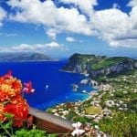 Scenic view from the top of Capri