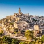 Ancient town of Matera at sunrise