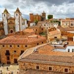 The city of Caceres in Extremadura, Spain