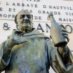 Statue of Dom Perignon, Epernay, France