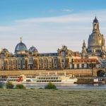 Skyline of Dresden with River Elbe and Frauenkirche