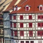 Half-timbered houses in Erfurt
