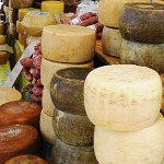 Cheese at a local market in Sardinia
