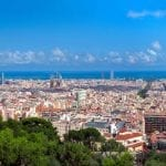 Panorama of Barcelona, Spain at summer