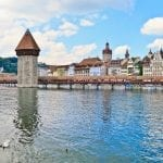 View of Chapel Bridge, Luzern