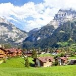 Grindelwald Village Panorama, Switzerland