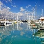 Beautiful boats and yachts in French town of Antibes