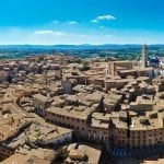 Siena panorama view from Tera Mangia tower