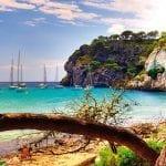 Beach on the island of Menorca, Spain