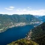 Panoramic view of Lake Como