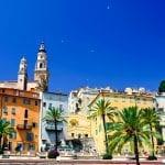 Village of Menton in French Riviera, along Mediterranean Sea