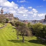 East Princes Street Gardens in Edinburgh, Scotland