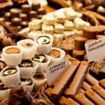 Selection of tempting Belgian chocolates