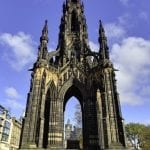 The Scott Monument in Edinburgh, Scotland