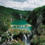 Aerial view of Plitvice National Park