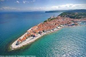 croatia tours piran aerial