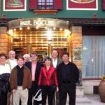 Group outside Paul Bocuse Restaurant