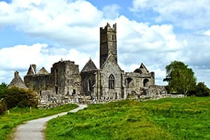 interesting facts about ireland - quin abbey
