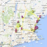 new england tours - map