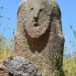 Closeup of a Menhir in Filitosa, Corsica