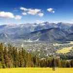 The city of Zakopane, Poland and the beautiful Tatras Mountains