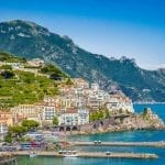 The town of Amalfi on the Amalfi Coast, Italy