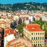 Panoramic view of Cannes, France