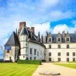 Chateau de Amboise, a medieval castle housing Leonardo Da Vinci's tomb in the Loire Valley, France