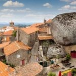 Giant boulders in the village of Monsanto, Portugal