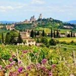 Countryside around San Gimignano, Tuscany, Italy