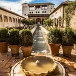 The Alhambra Palace and Gardens in Granada, Spain
