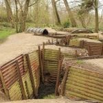 WWI trenches in Flanders Fields, Ypres