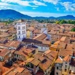 View over the city of Lucca, Italy