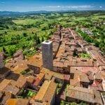 Aerial view over San Gimignano, Tuscany, Italy