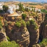 Ronda, Spain on the edge of the Tajo Gorge